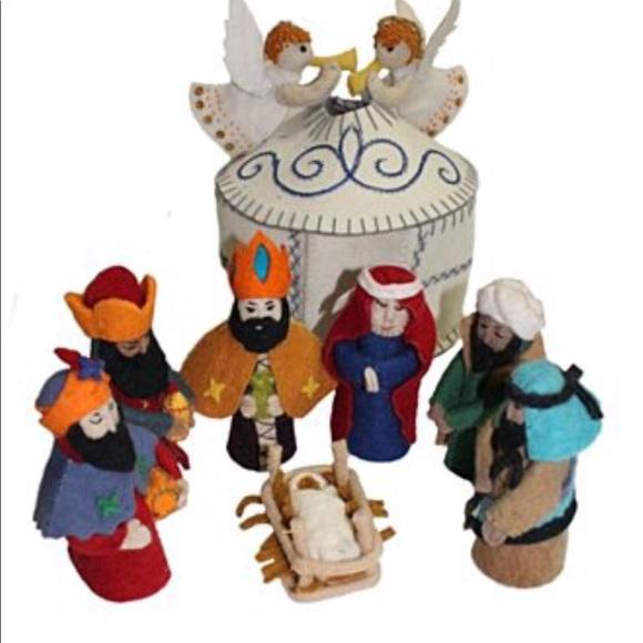Magical Felt Nativity Set White Silk Road Bazaar